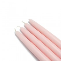 "6"" Light Rose Taper Candles (1 Dozen)"