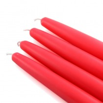 "6"" Ruby Red Taper Candles (1 Dozen)"