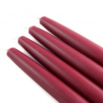 "6"" Burgundy Taper Candles (1 Dozen)"