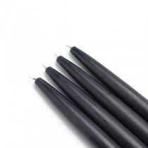 "6"" Black Taper Candles (1 Dozen)"