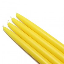 "10"" Yellow Taper Candles (1 Dozen)"