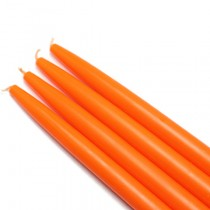 "10"" Orange Taper Candles (1 Dozen)"