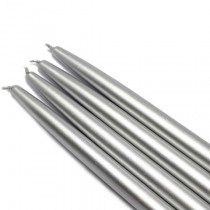 10 Inch Metallic Taper Candles (1 Dozen)
