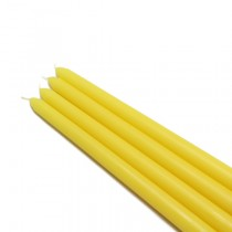 "12"" Yellow Taper Candles (1 Dozen)"