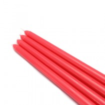 "12"" Ruby Red Taper Candles (1 Dozen)"