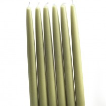 "12"" Sage Green Taper Candles (1 Dozen)"