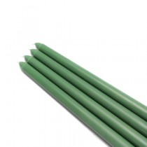"12"" Hunter Green Taper Candles (1 Dozen)"
