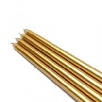 "12"" Metallic Gold Taper Candles (1 Dozen)"