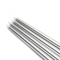 "12"" Metallic Silver Taper Candles (1 Dozen)"