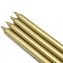 10 Inch Metallic Straight Taper Candles (1 Dozen)