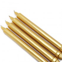 10 Inch Metallic Formal Dinner Taper Candles (144pcs/Case) Bulk