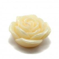 3 Inch Ivory Rose Floating Candles (12pc/Box)