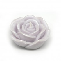 3 Inch Purple Rose Floating Candles (12pc/Box)