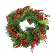 "Abigail 30"" Christmas Wreath"