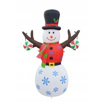 6FT Inflatable Tree Hand Snowman