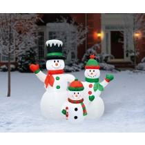 6FT Inflatable Snowman Family