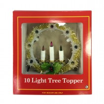 10 Lite Tree Topper W/Candle-Multi Lights