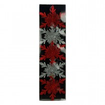Red Silver 5Pk Point Snowflake