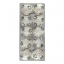 White Silver 10Pk Tinsel Jewel