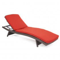Brick Red Chaise Lounger Cushion (Set of 2)