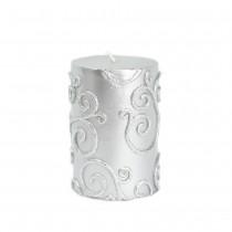 3 x 4 Inch Scroll Pillar Candle (12pcs/Case) Bulk