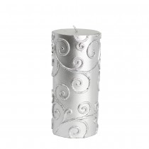 3 x 6 Inch Scroll Pillar Candle (12pcs/Case) Bulk