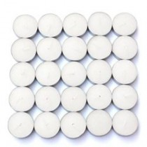 50 Vanilla Scented White Tealight Candles