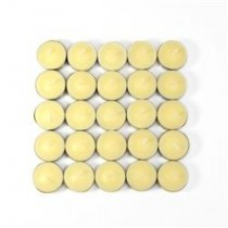 50 Vanilla Scented Ivory Tealight Candles