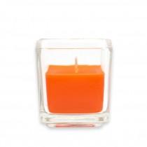 Orange Square Glass Votive Candles (12pc/Box)