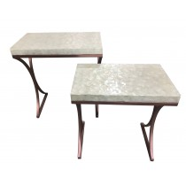 Doris Shell Table-Set of 2