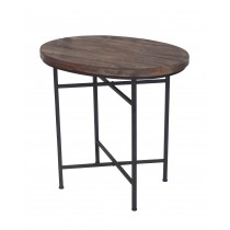 WOOD/METAL OVAL TABLE