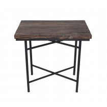 WOOD/METAL RECT.TABLE.