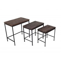 Set of 3 Wooden Nested Reception Table