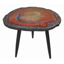 WOOD/METAL SIDE TABLE