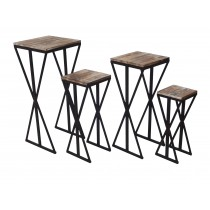 Set of 4 plant stand