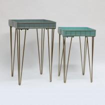 S/2 Metal Planter Table