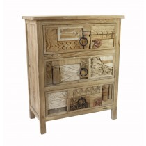 Artistic Relief 3-Tiered Cabinet