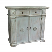 Antique Wooden Cabinet in Off-White