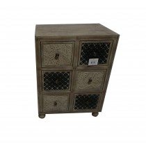 "30"" Wooden Cabinet With 6 Drawer"