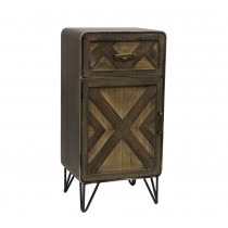 "32"" Luis Wood and Metal Cabinet"