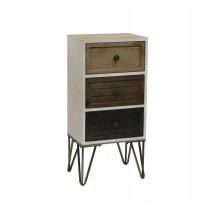 "28"" Sherlock Wood and Metal Cabinet"
