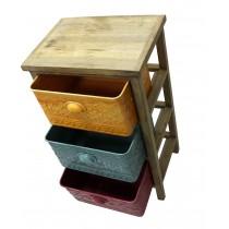 "17""H wood metal cabinet"