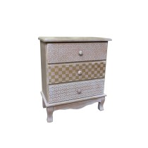 Wooden Cabinet With 3 Drawers