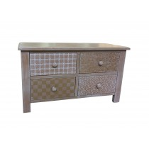 Wooden Cabinet With 4 Drawers