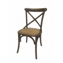 "34""H Brown Wooden Dining Chair - Set of 2"
