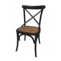 "34""H Black Wooden Chair - Set of 2"
