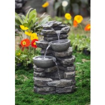 Rock & Pot Waterfall Water Fountain without Light