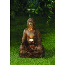 Rustic Buddha Water Fountain with LED Lighting