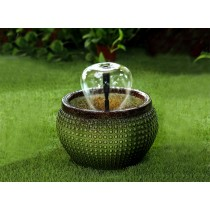 Green Bowl with Nozzle Water Fountain