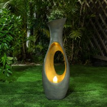 Vase Shape Fountain with Led Light